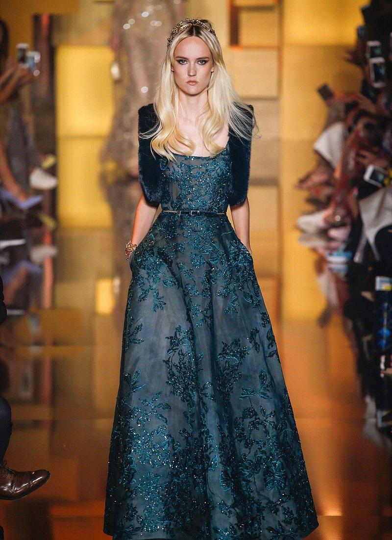 بالصور أزياء وفساتين هوت كوتور تصميم إيلي صعب شتاء 2016