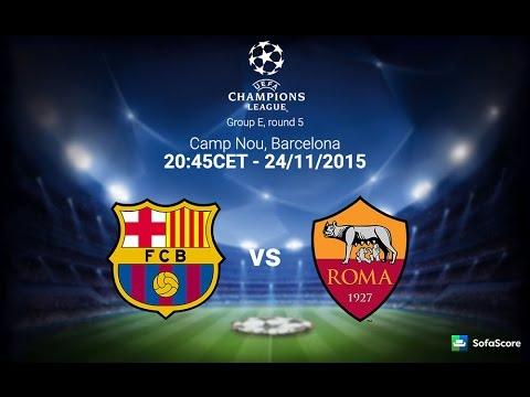 فيديو يوتيوب مشاهدة تسجيل مباراة برشلونة وروما اليوم الثلاثاء 24-11-2015