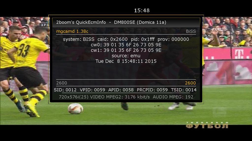 ���� ��� ���� Telekanal Futbol (Football Russia) Yamal 401, 90� East ���� Biss ����� �������� 8/12/2015