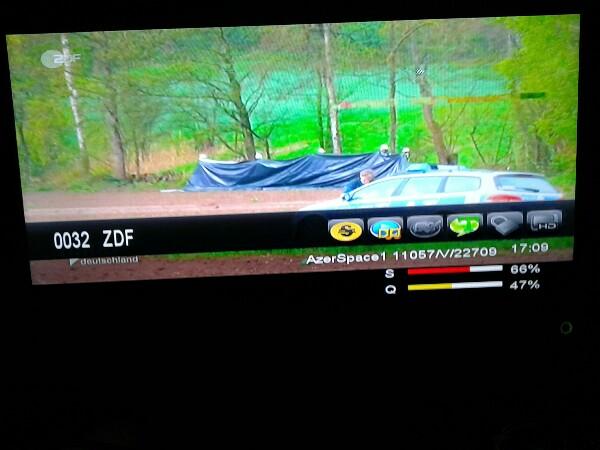 قناة ZDF الألمانية جديد القمر AzerSpace 1 / Africasat-1A @ 46° East اليوم الثلاثاء 19/4/2016