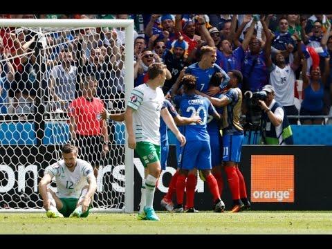 فيديو يوتيوب اهداف مباراة فرنسا وأيرلندا اليوم الاحد 26-6-2016 جودة عالية hd - يورو 2016
