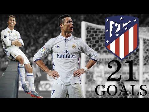 بالفيديو اهداف كريستيانو رونالدو في أتلتيكو مدريد 2017/2018