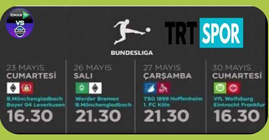 بعد العودة الدوري الالماني على قناة  trt sport التركية 2020