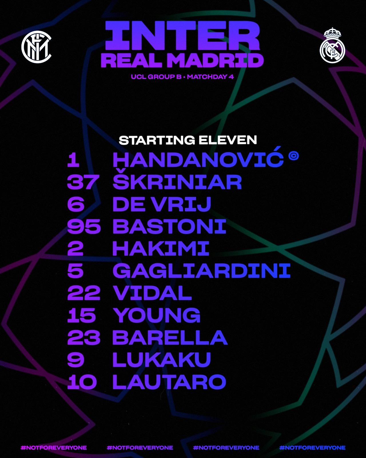رسمي تشكيل مباراة إنتر ميلان وريال مدريد اليوم 25-11-2020