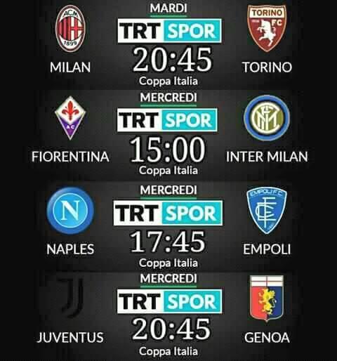 اليوم مباراة ميلان وتورينو مجانا على قناة trt spor