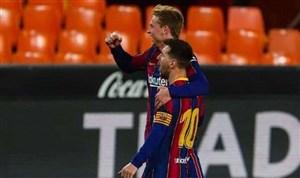 ملخص ونتيجة مباراة برشلونة وفالنسيا