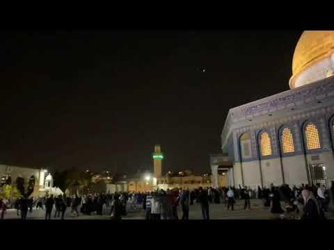 شاهد بالفيديو حريق المسجد الاقصى اليوم 10-5-2021