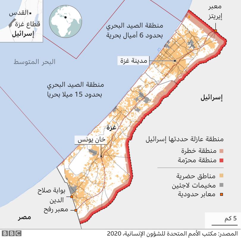 كم يبلغ عدد سكان قطاع غزة 2021