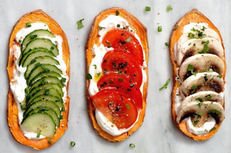 مقادير وطريقة عمل توست البطاطا الحلوة