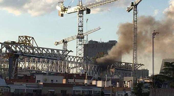 سبب حريق ملعب سانتياجو برنابيو