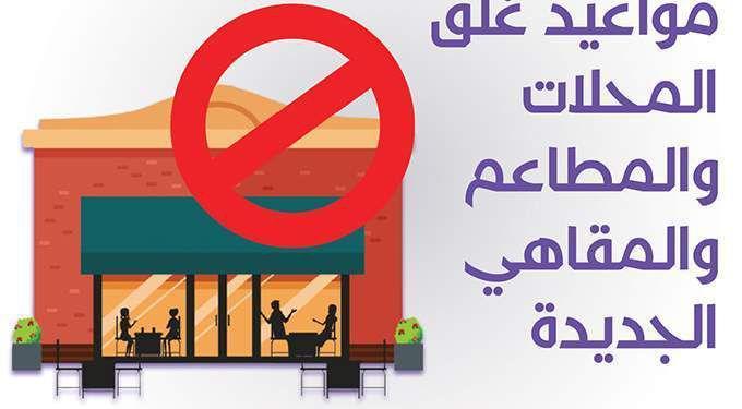 مواعيد اغلاق وفتح المحلات والمطاعم والمقاهي 2021 في مصر