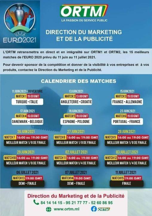 تردد قناة ortm المالية الناقلة مجانا لمباريات يورو 2021