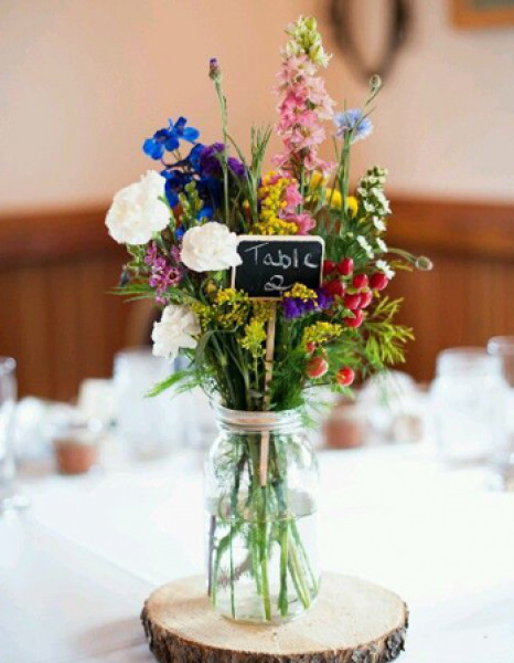 بالصور ديكورات حفل زفافك بلون الزهور الملكي