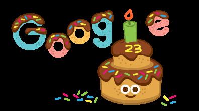 جوجل يحتفل بعيد ميلاده الـ23