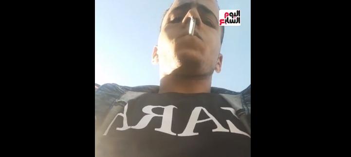 شاهد لحظة سرقة هاتف مراسل موقع اليوم السابع