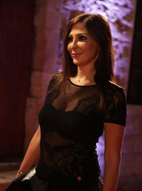 شاهد اليسا اللون الأسود يخفي الوزن الزائد - بالصور اليسا بفستان اسود 2013 - صور اليسا 2013