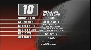 المصارعة بتاريخ اليوم 14/12/2012 - فيدات ناقلة للمصارعة 2013 - قنوات ناقلة للمصارعه 2013