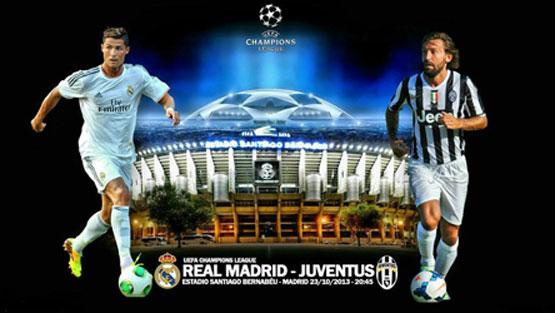 مشاهدة مباراة ريال مدريد ويوفنتوس بث مباشر اليوم 23-10-2013